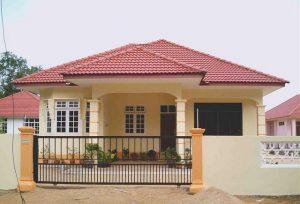 atap rumah, rumah piramida, rumah murah, jual rugi rumah
