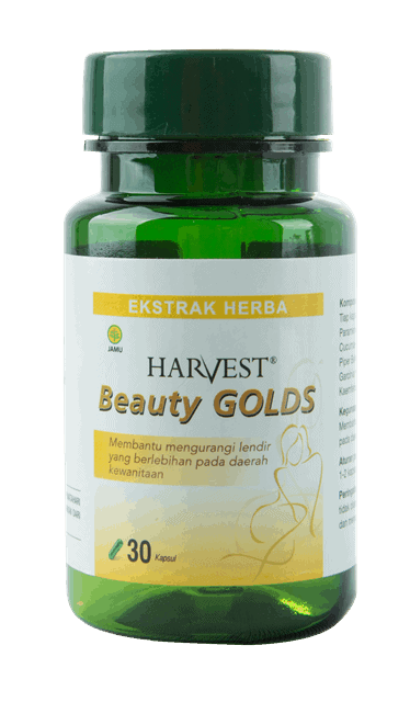 Harvest Beauty Golds, obat herbal, cantik alami, produk kecantikan