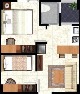 Denah Tipe 2 Bed Room, beli apartemen, kontes SEO terkini, sales apartemen