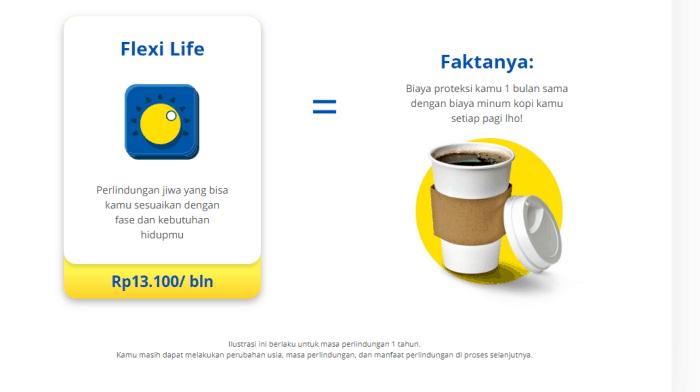 Asuransi jiwa seharga kopi