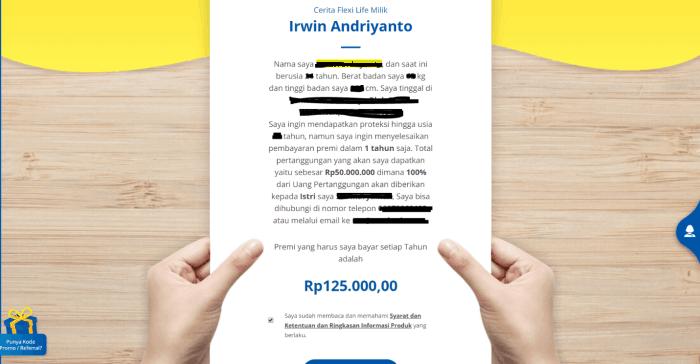 cerita flexi life milik Irwin Andriyanto