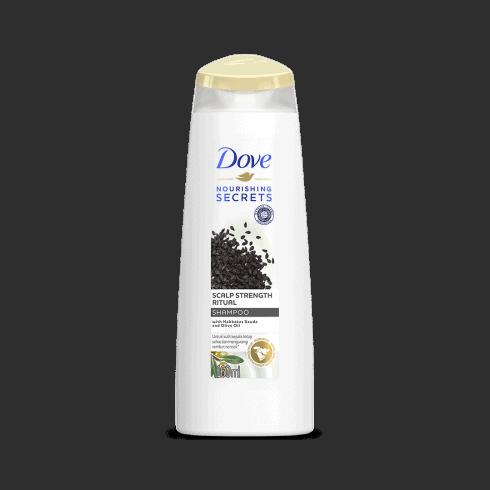 Dove Scalp Strength Ritual terinspirasi dari ritual perawatan rambut wanita yang Halal dari Timur Tengah dengan formula yang mengandung Habbatussauda dan Minyak Zaitun, mengurangi rambut rontok* dan menutrisi kulit kepala sejak pertama kali keramas. Untuk kulit kepala yang tetap sehat dan rambut yang lebih kuat*.