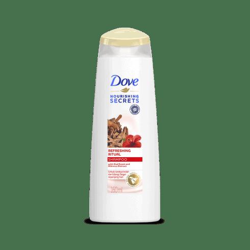 Dove Refreshing Ritual terinspirasi dari ritual perawatan rambut wanita yang Halal dari Timur Tengah dengan formula yang mengandung Oud Scent dan Hibiscus Oil, mengurangi rambut rontok*, membersihkan dan menyegarkan rambut sepanjang hari.