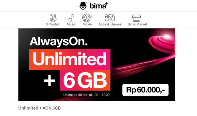 kartu internet Unlimited Always on