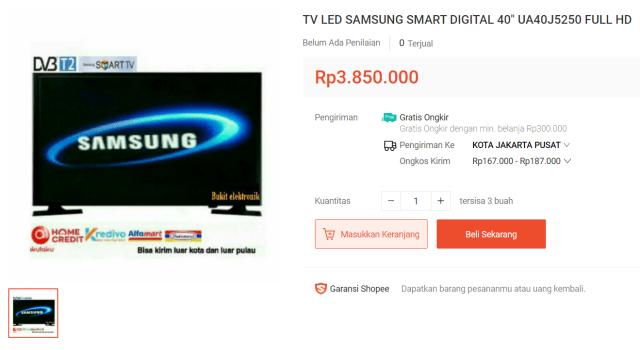 Samsung Smart TV UA40J5250 40″