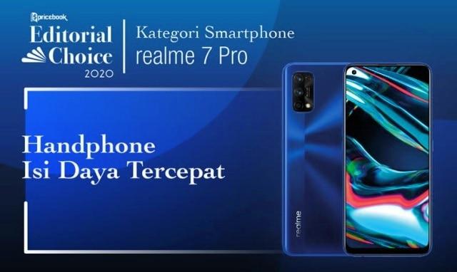 Rekomendasi Pricebook kategori Smartphone dengan Isi Daya Tercepat adalah Realme 7 Pro
