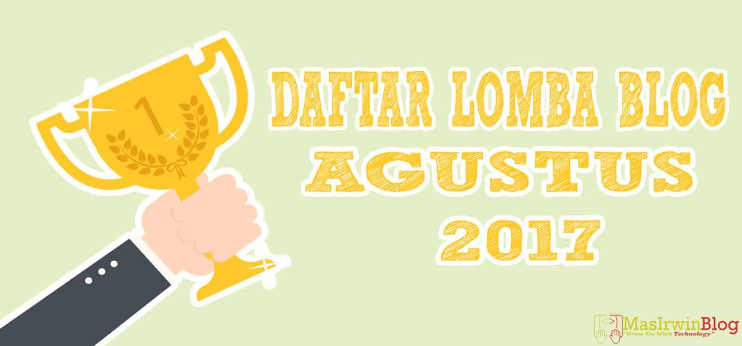 Lomba Blog Agustus 2017 Update