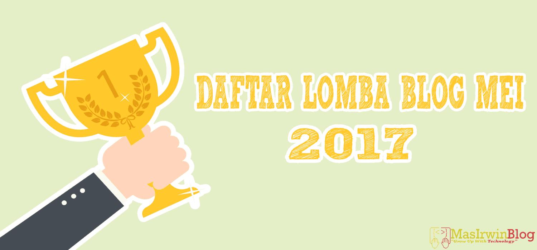 Daftar Lomba Blog Mei 2017